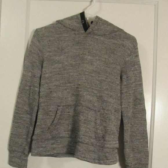 The Gap great women's extra small hooded sweater This sweater is hooded, gray, with a pilled look, black elbow pads and in a size extra small. Worn once before, there are no defects to the sweater. GAP Tops Sweatshirts & Hoodies