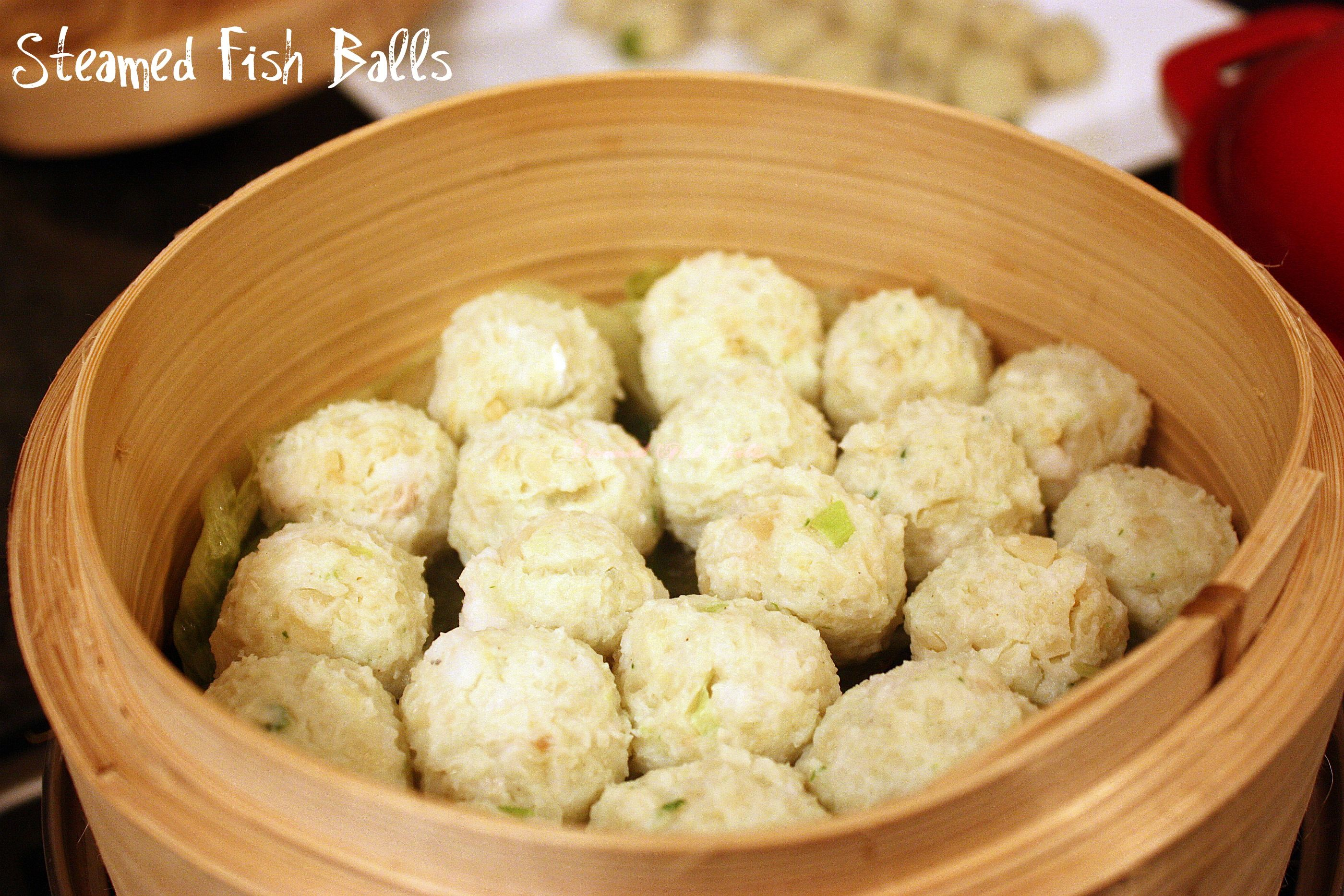 Fish Ball Recipe (Steamed Fish Balls With Bean Curd Sticks) Recipe ...