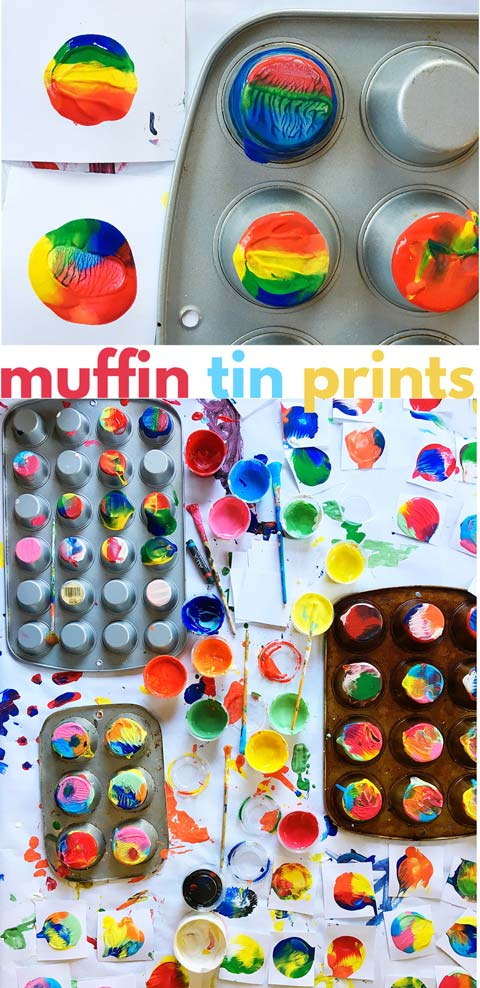 Photo of Process Art Idea: Muffin Tin Prints – Babble Dabble Do