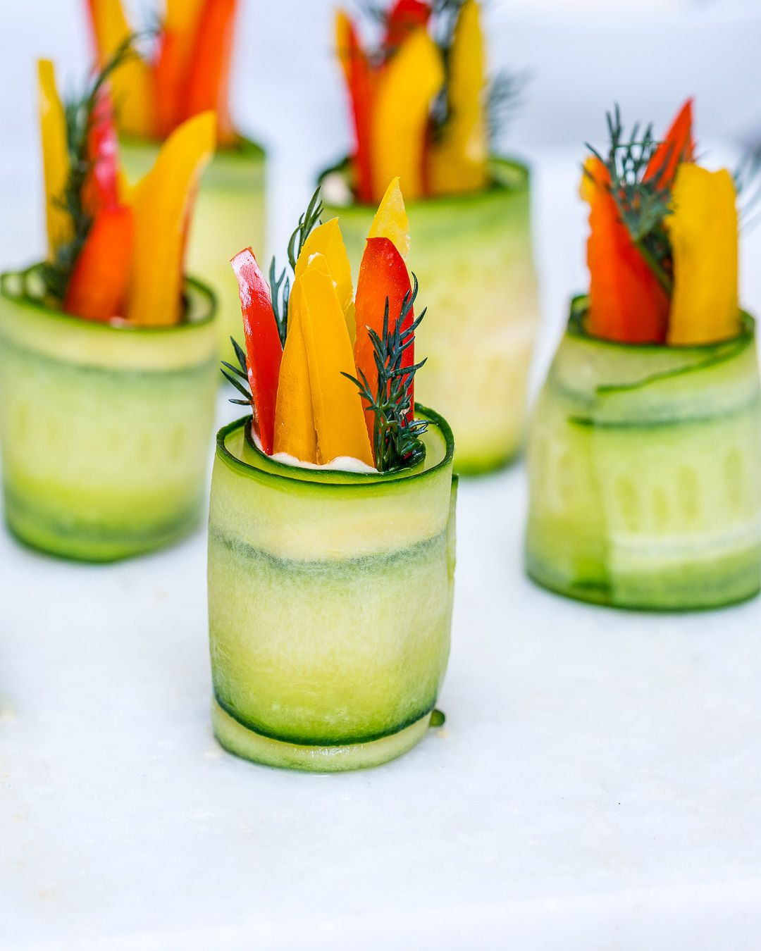 Hummus Cucumber Roll-Ups are GREAT for Entertaining with Clean Eats!
