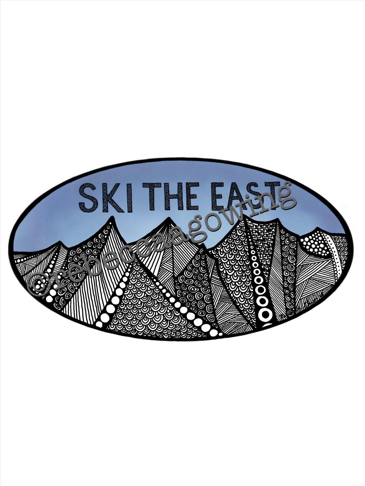 My Ski The East Sticker Design Sticker Design Car Stickers Artwork [ 1600 x 1200 Pixel ]