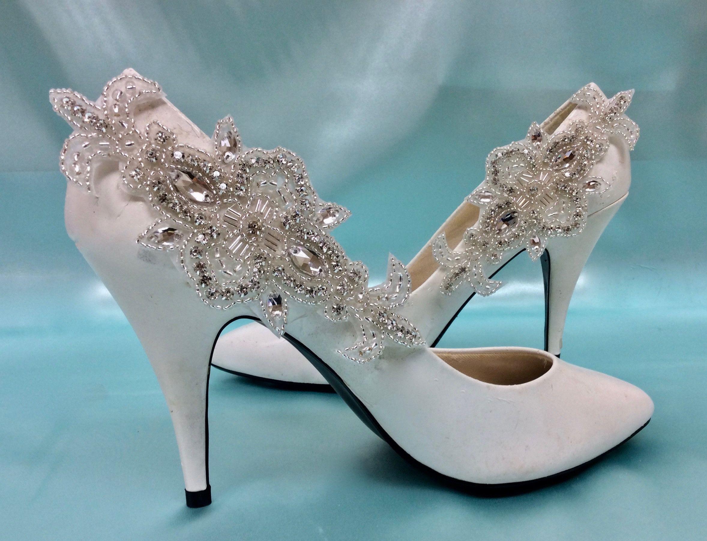 Red dress shoes for wedding  Bridal Wedding Shoe Clips Rhinestone Crystal Shoe Accessory