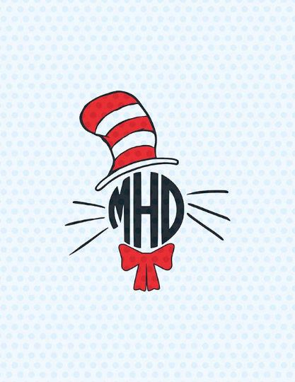 Dr Seuss Hat Silhouette : seuss, silhouette, Cutting, Files