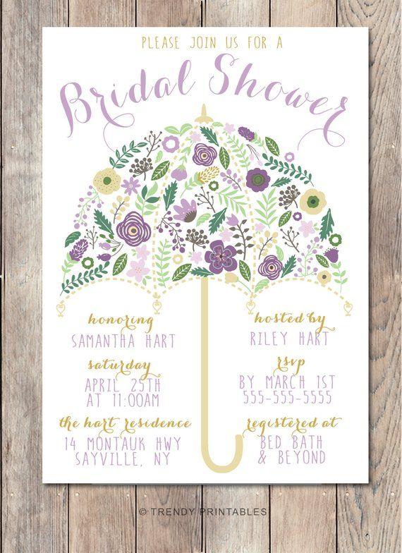 bridal shower invitation umbrella bridal shower invite pretty bridal shower invite printable brid
