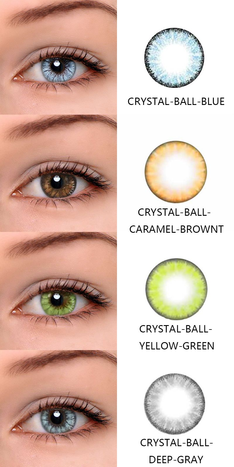 Ttdeye Com Crystal Ball Series The Human Doll Series Contact Lenses Colored Colored Eye Contacts Coloured Contact Lenses