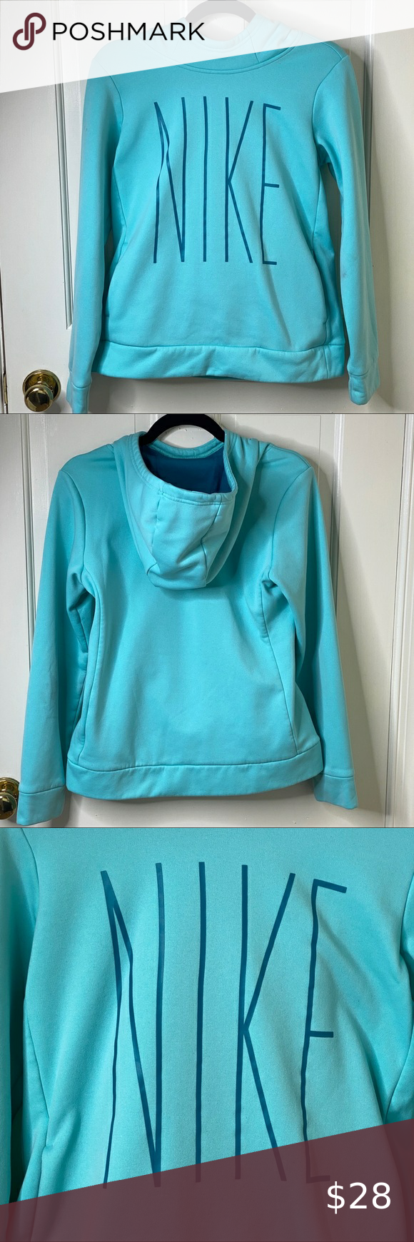 Nike Aqua And Teal Dri Fit Fleece Hoodie A 35 Fleece Hoodie Hoodies Sweatshirts Hoodie [ 1740 x 580 Pixel ]