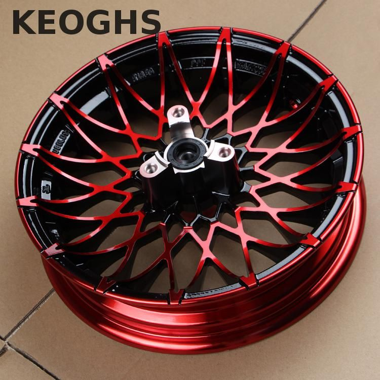 Keoghs Motorcycle 10 12 Inch 57 70mm Front Wheel Rim Aluminum Alloy For Yamaha Scooter Modify Wheel Rims Scooter Modified Yamaha Scooter