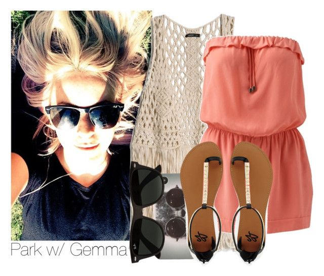 """""""Parkw/ Gemma"""" by dianita-cris ❤ liked on Polyvore featuring MANGO, With Love From CA, 2b bebe, Ray-Ban, women's clothing, women, female, woman, misses and juniors"""