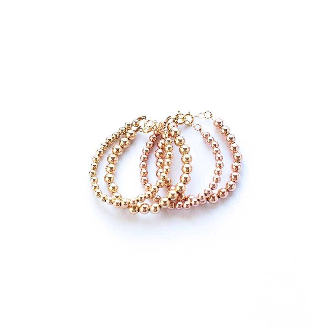 K gold handmade baby bracelet baby braceletes rose gold baby
