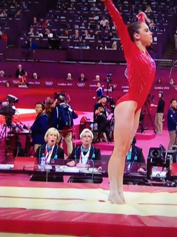 Judges' Faces after watching her incredible vault.