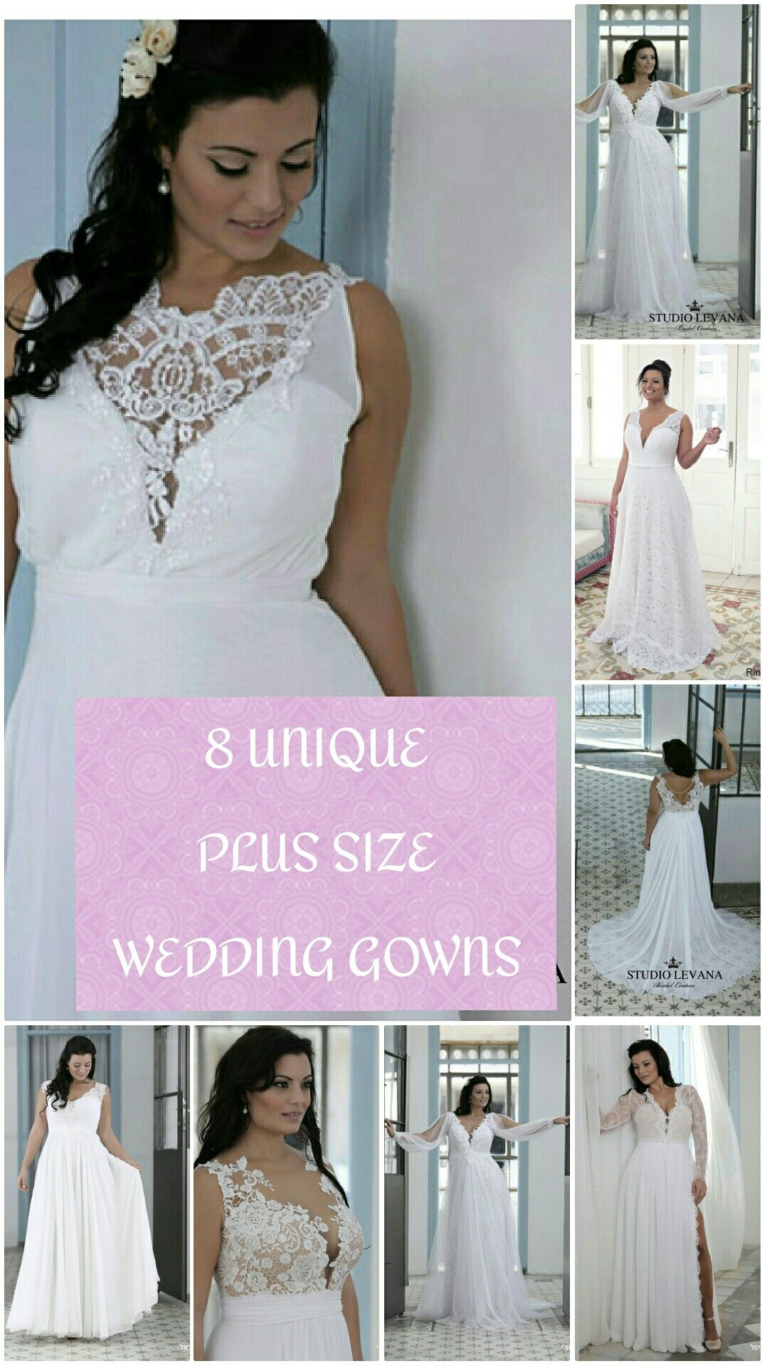 8 unique plus size wedding gowns. Worth pinning! | Brautkleider ...