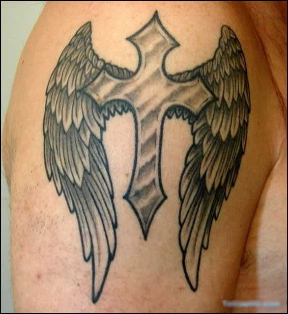 Resultado De Imagem Para Tatuagem De Cruz Com Asas