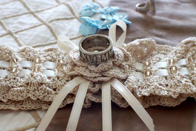 Beautiful Crochet Wedding Garter With Rings
