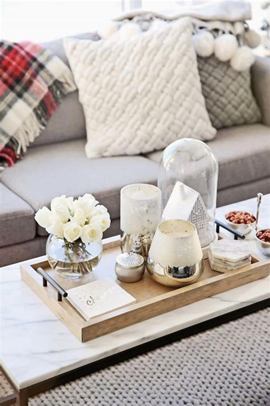 awesome coffee table tray decor ideas