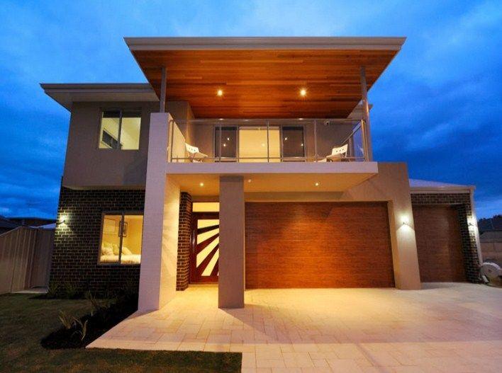 Fachadas de casas de dos pisoscon terrazas modernas Casas bonitas