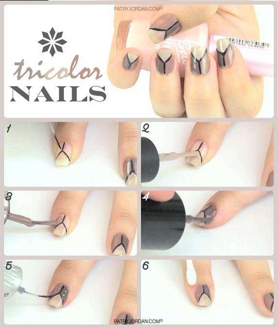 DIY: Diseño de uñas tricolor. Hazlo tu misma, es muy fácil y rápido ...