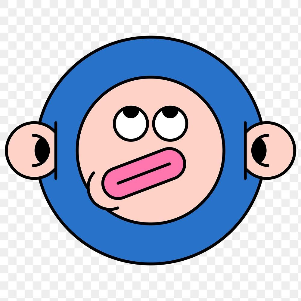 Funky Monkey Monster Emoji Sticker Transparent Png Free Image By Rawpixel Com Te Emoji Stickers Transparent Stickers Monster Stickers