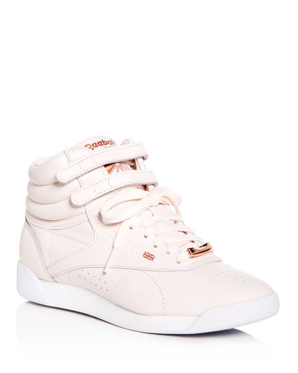 83c2ca5c10bed Reebok Women s Freestyle Hi Muted Leather High Top Sneakers