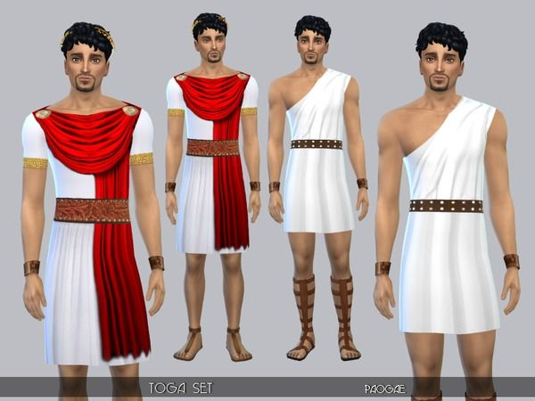 36822e2cd4 Sims 4 CC s - The Best  Toga Set by Paogae