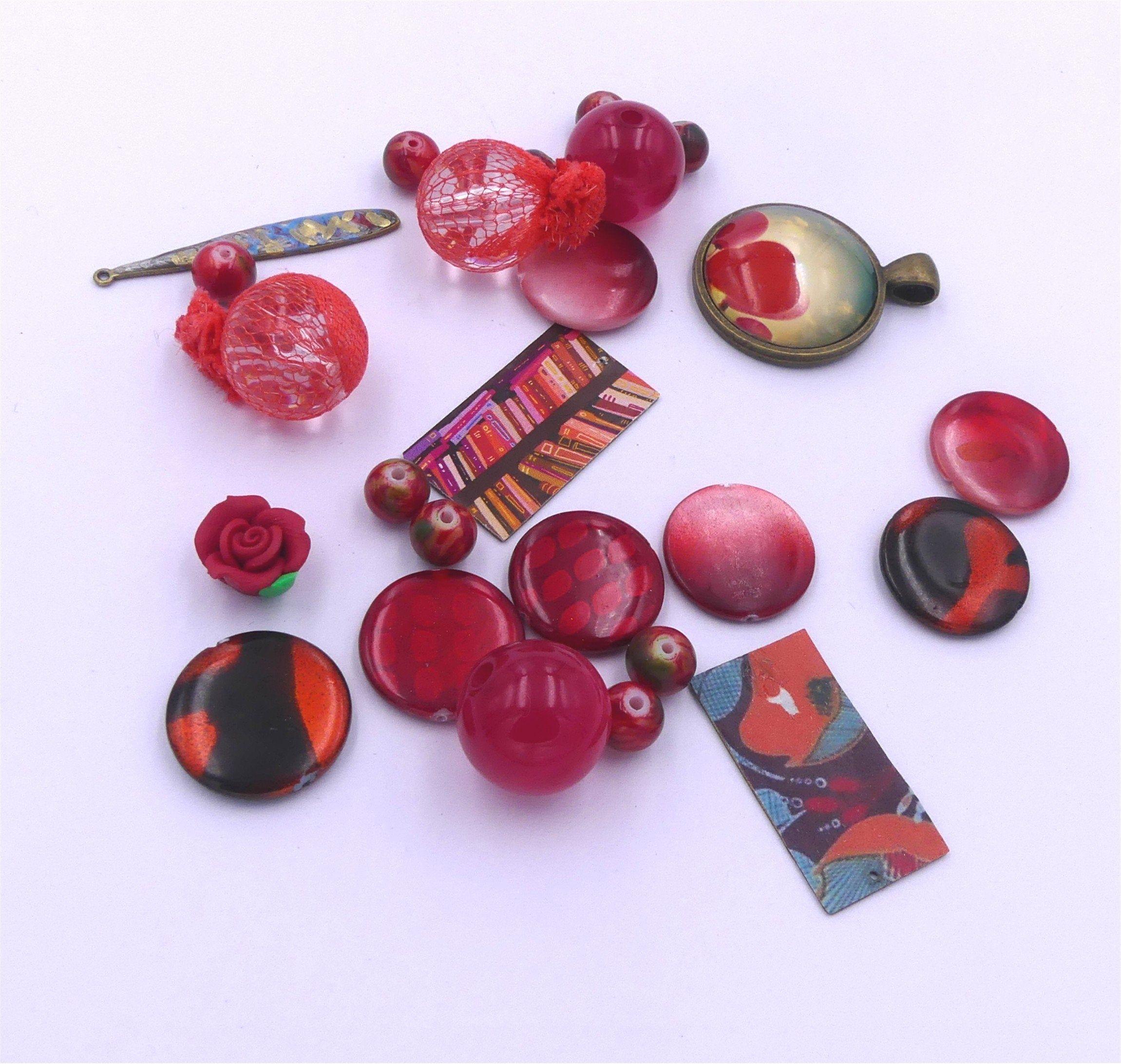 25 Perles métal peinte a la main 8MM