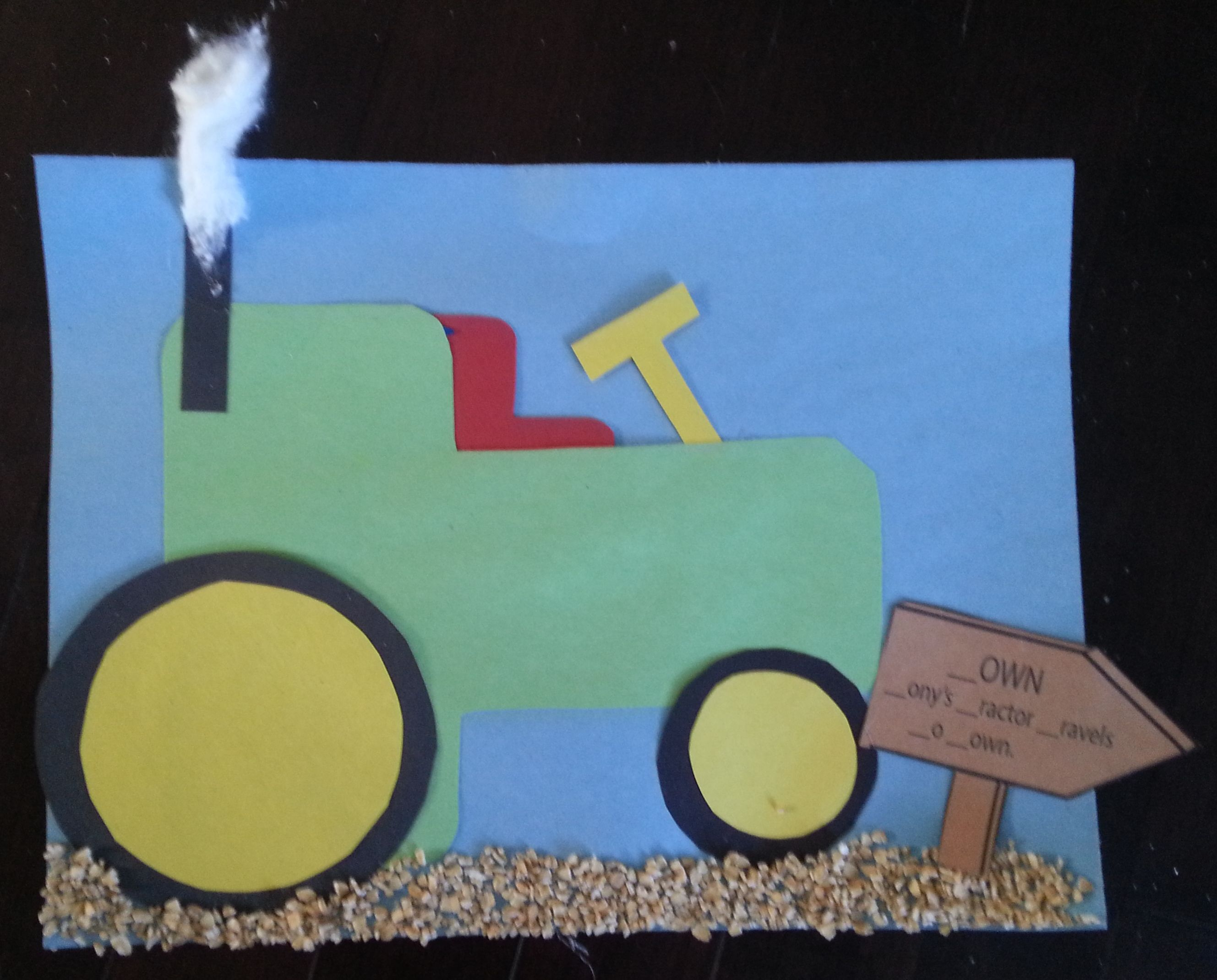 Letter T Craft With Sentences For Students To Fill In Where The