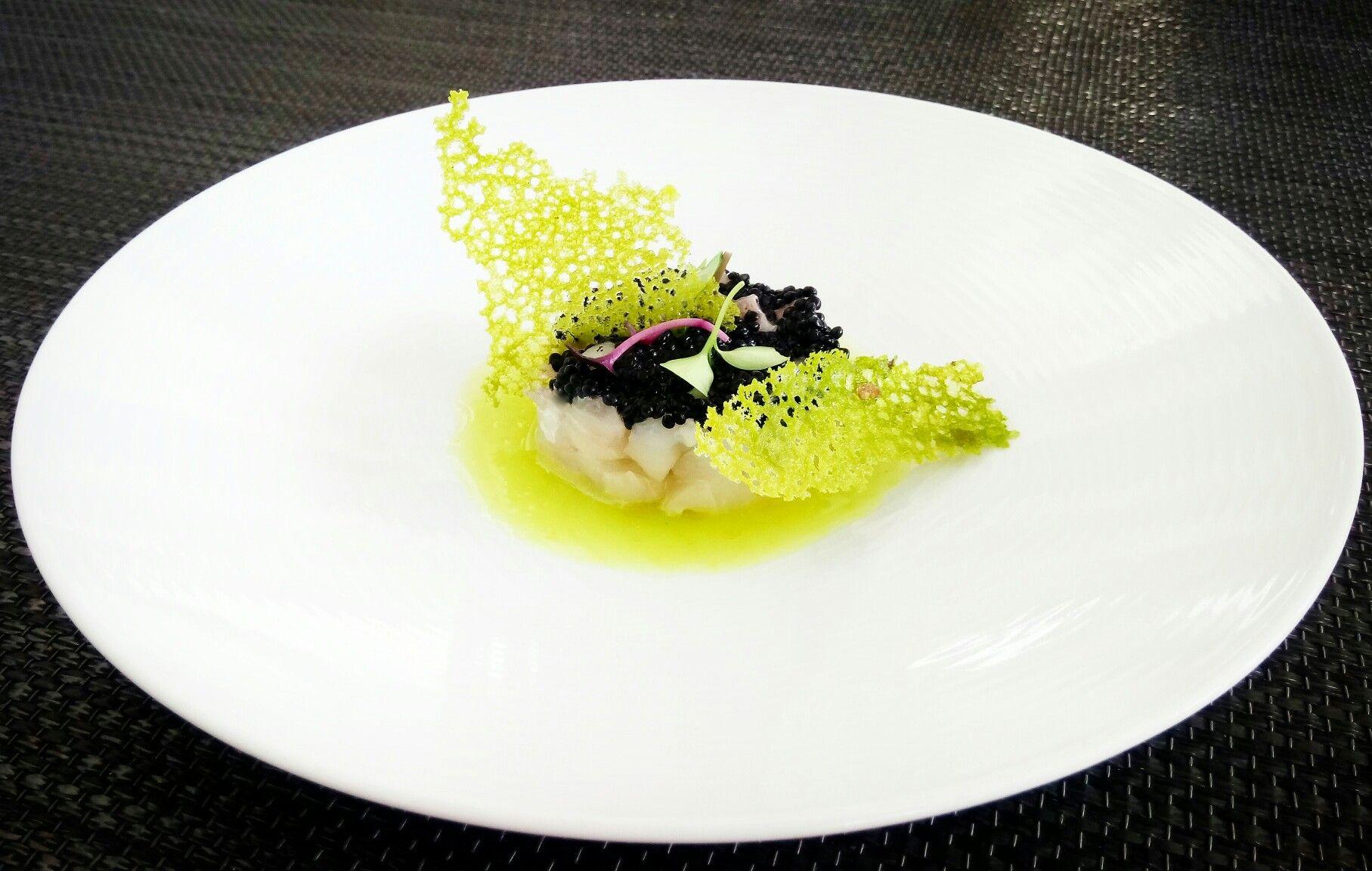 Grouper tartar Green Apple yuzu dressing