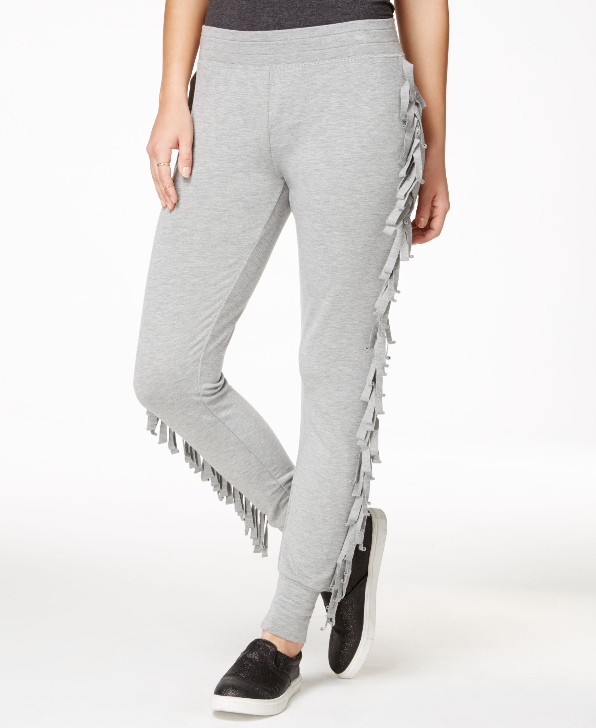 Material Girl Active Juniors' Fringe Sweatpants, Only at Macy's