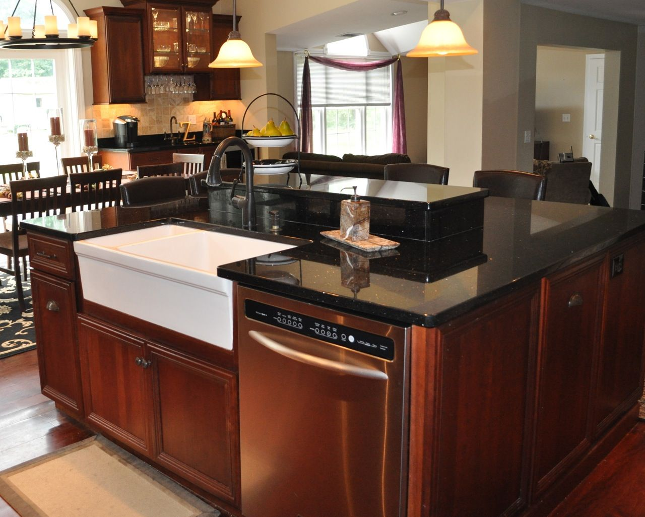 granite kitchen islands photo gallery | Black Galaxy Granite Kitchen ...