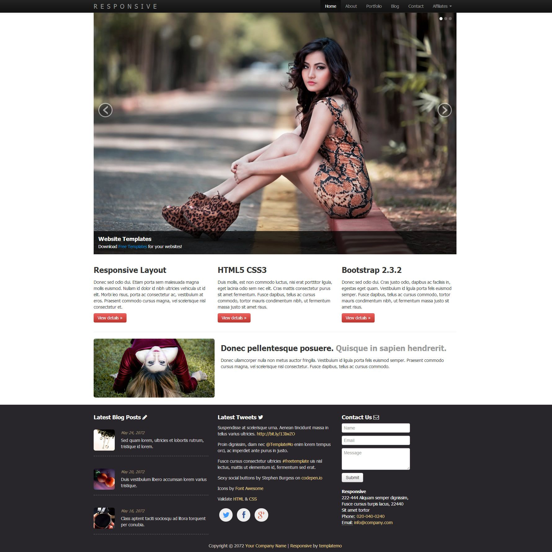 Html/Css Web Templates For Free Download | Freebies | Pinterest