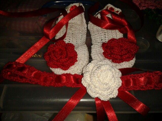 Rojo y blanco modelo rosa de creaciones arivelisse