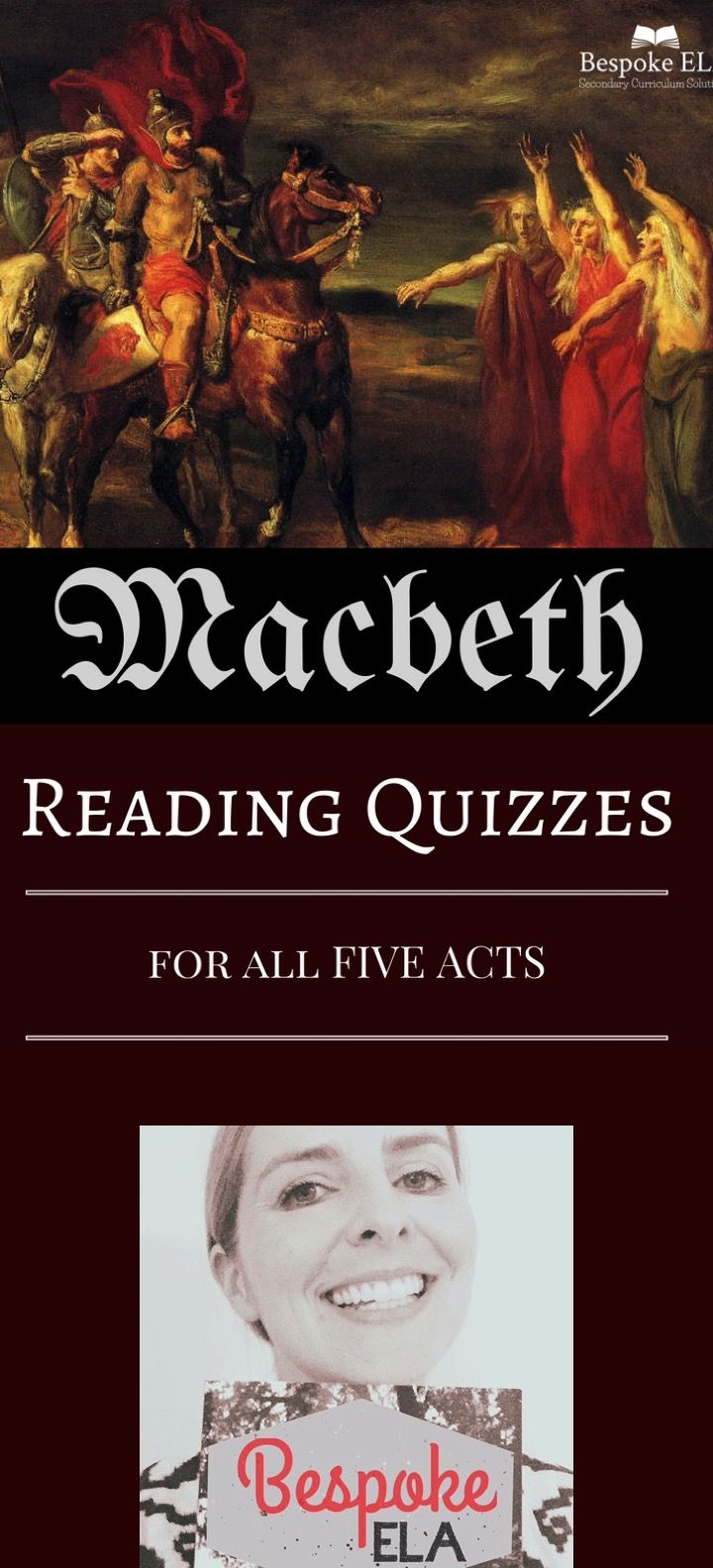 macbeth reading quizzes answer keys comprehension bespoke this product by bespoke ela contains five reading quizzes for all five acts of shakespeare s tragedy