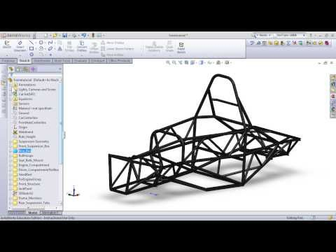 Modeling an FSAE Frame in SolidWorks | FSAE | Pinterest | Frame and ...