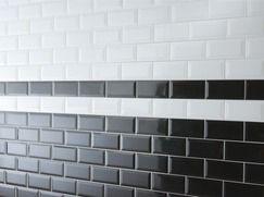 Faïence métro blanc biseauté pour application murale l. 7,5 L. 15 ...