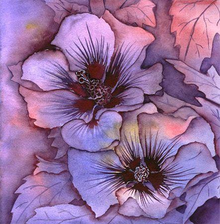aquarell hibiskus von nina vahrenkampf blumen flowers pinterest. Black Bedroom Furniture Sets. Home Design Ideas