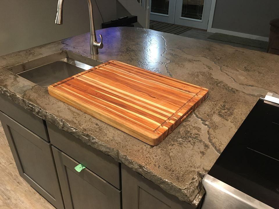 Concrete Counter Tops Cutting Board Insert Stonecast