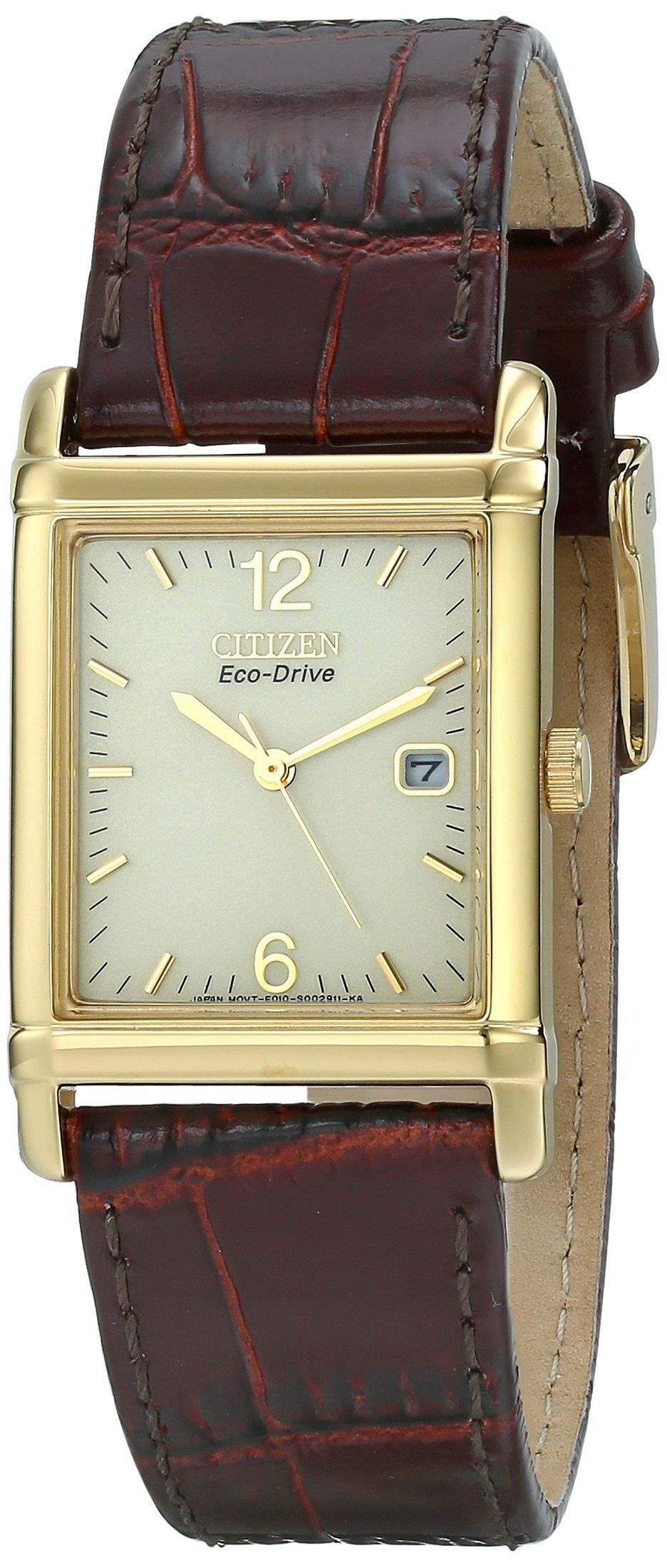 Citizen Men s BW0072-07P Eco-Drive Gold-Tone Stainless Steel and Leather  Watch 68f1d1cca3