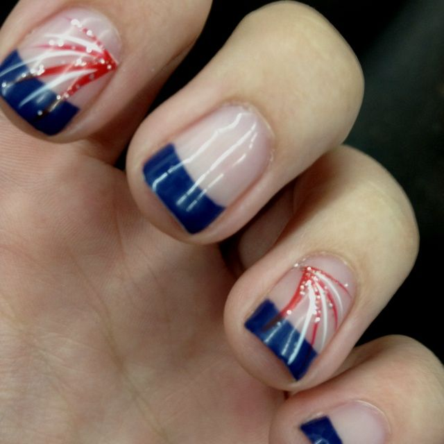 4th of july nail designs | My fourth of July nails! :) | bulldogs ...