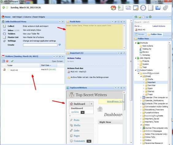 office organizer software. Transform Microsoft Outlook Into A GTD Organizer With Jello Dashboard Office Software R