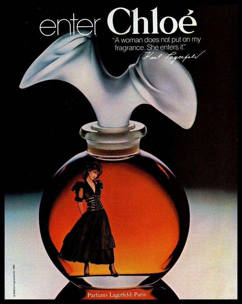 1983 Chloe Paris Perfume Enter Fragrance Woman Karllagerfeld