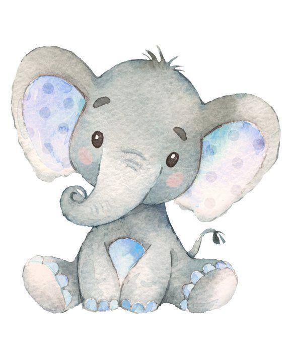 Photo of Baby Boy Elephant Nursery Print JPEG 8 by 10 / Digital File – #Bebé #Boy #Digita …