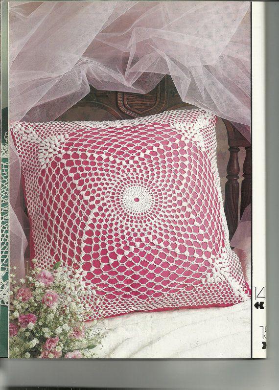Crochet pillow pattern crochet bedspread pattern | Pillow, pillows ...