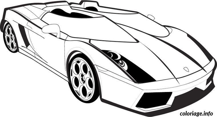 Coloriage Voiture Lamborghini Dessin A Imprimer Modele Mannequin