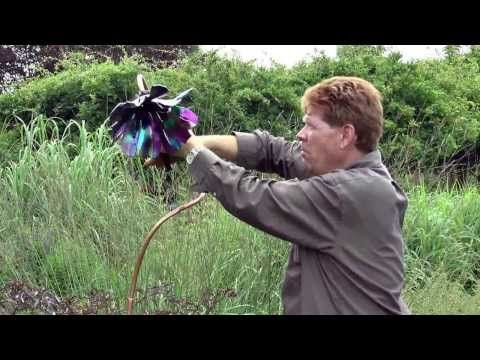 How To Install Poppies Youtube Glass Garden Art Glass Flowers