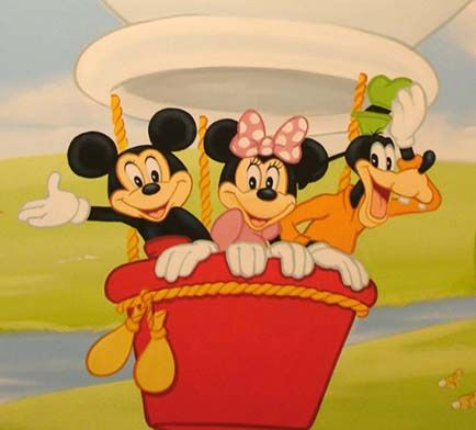 Mickey Mouse Wall Painting