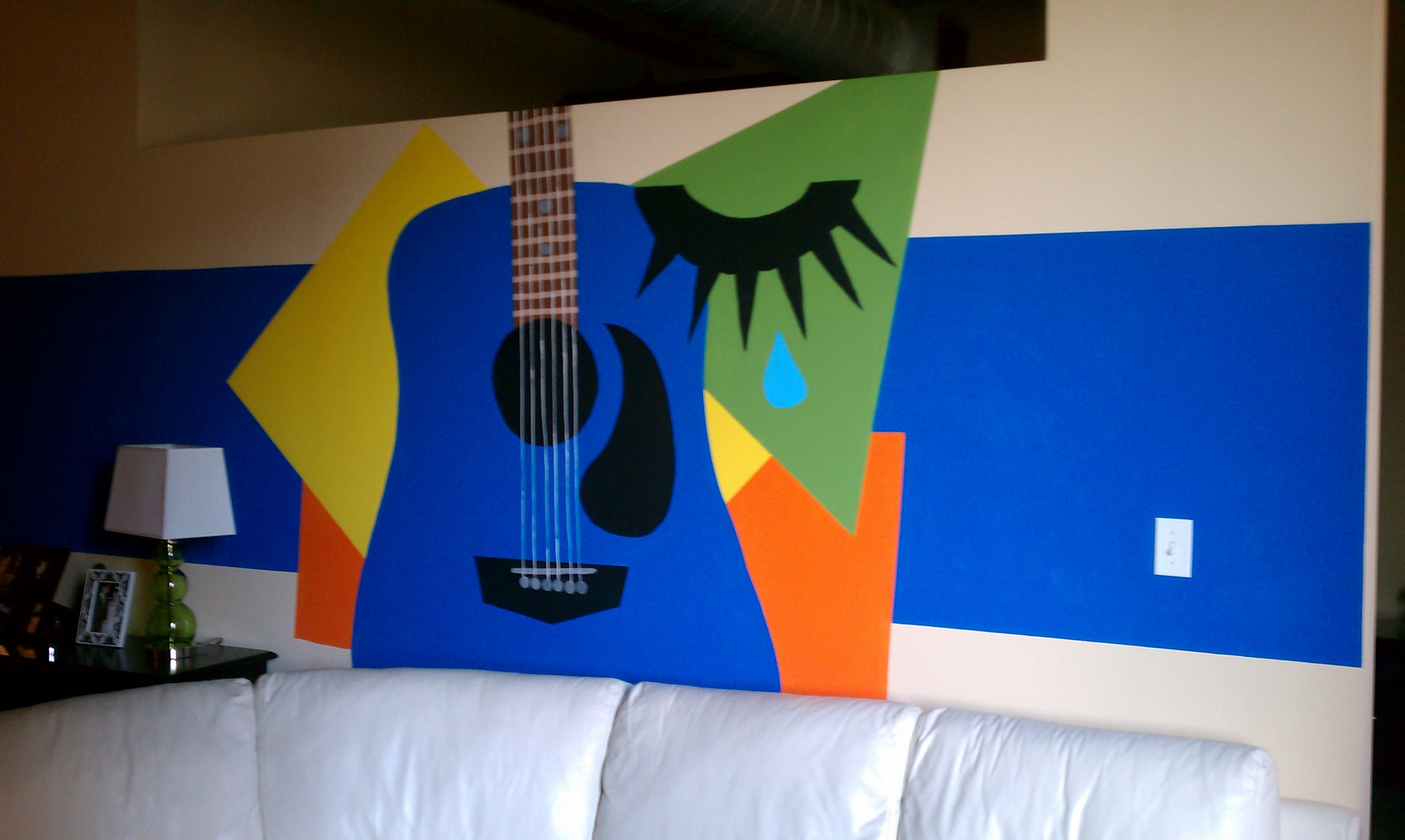 Nice Wall Painting Compliments Of Radagun Great Idea For A Guitar
