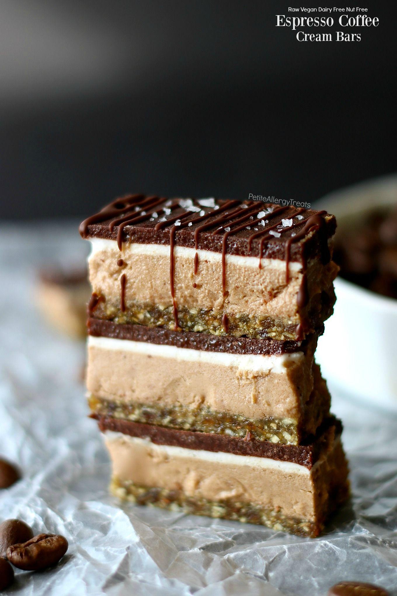 Vegan Raw Espresso Coffee Cream Bars Recipe Raw Vegan Desserts