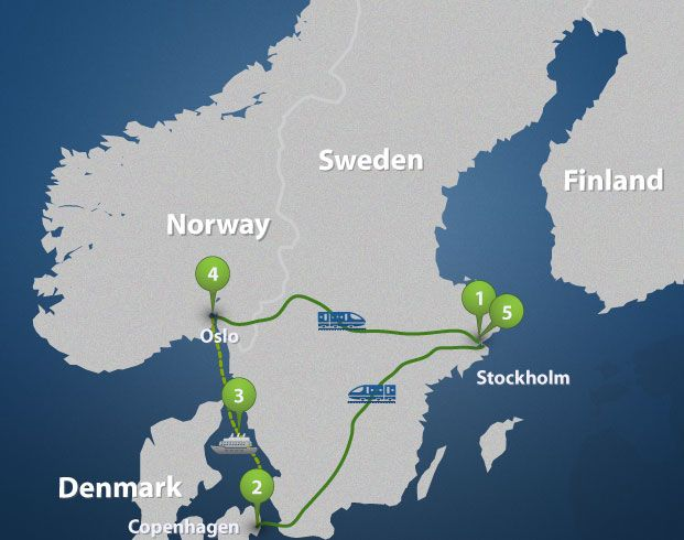 The Golden Triangle Of Scandinavia Express Sweden Travel Scandinavia Sweden