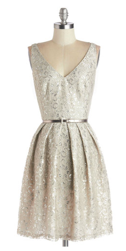 sweet & sophisticated, perfect holiday party dress.