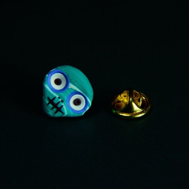 White, Teal & Blue Pin - E-Skullery  www.facebook.com/eskullery  #skulls #fashion #stylish #eskulls #steampunk #mensfashion #dapper