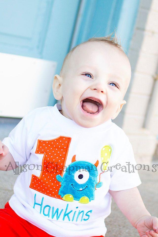 Fuzzy Little Monster Birthday Shirt by AChapmanCreations on Etsy https://www.etsy.com/listing/165038232/fuzzy-little-monster-birthday-shirt